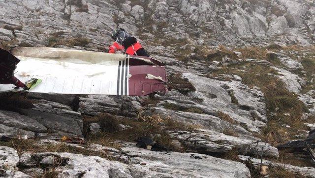 Avioneta siniestrada en el monte Hernio (Gipuzkoa)