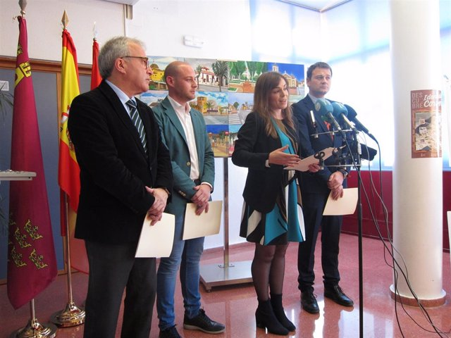 Portavoz y ediles PP Murcia junto pedáneo Corvera