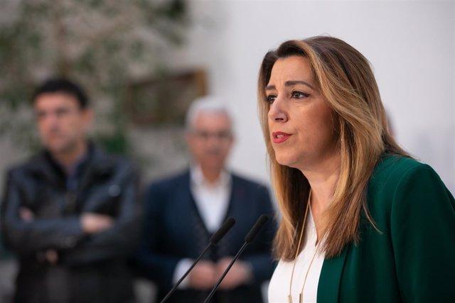 Rueda de prensa de la secretaria general del PSOE-A y presidenta de la Junta en