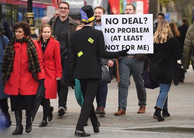 Protestas por el Brexit en Londres