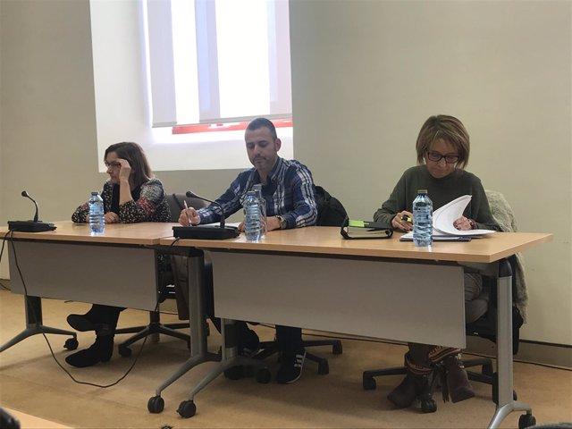 Fátima Nercellas, Óscar Graña y Elisabeth Dosil, en la jornada de sanidad