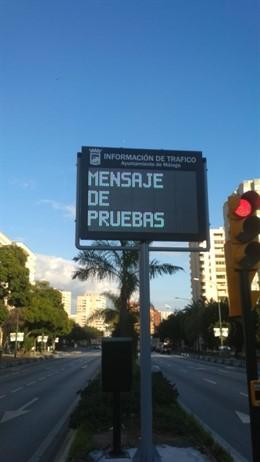 Panel información instalado en Málaga