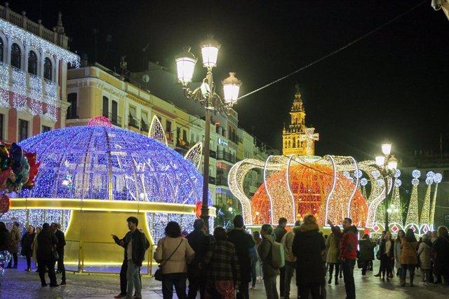 Luces de Navidad en Sevilla.