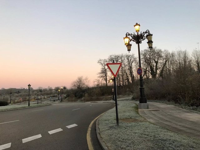 Helada en Oviedo, frío, invierno, hielo