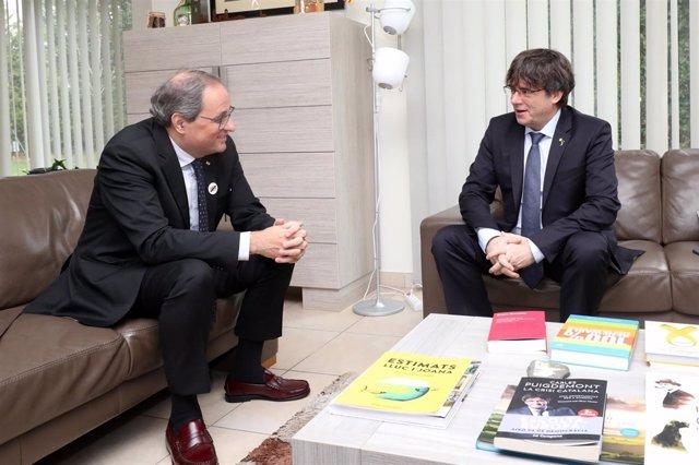 Reunión en Waterloo (Bélgica) entre el pte.Q.Torra y el expte.C.Puigdemont.