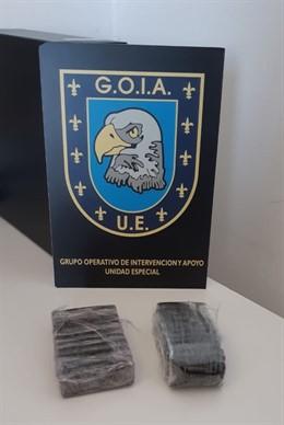 Droga incautada por la Policía Local de Las Palmas de Gran Canaria