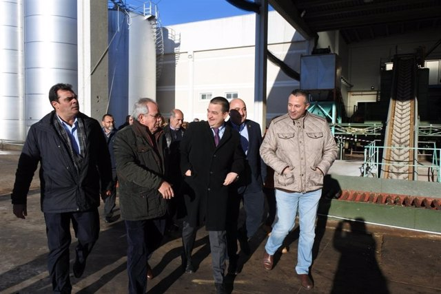 Francisco Martínez Arroyo visita la Almazara del Grupo Montes Norte