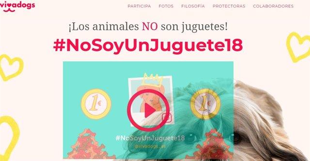 La campaña #nosoyunjuguete18 de Vivadogs