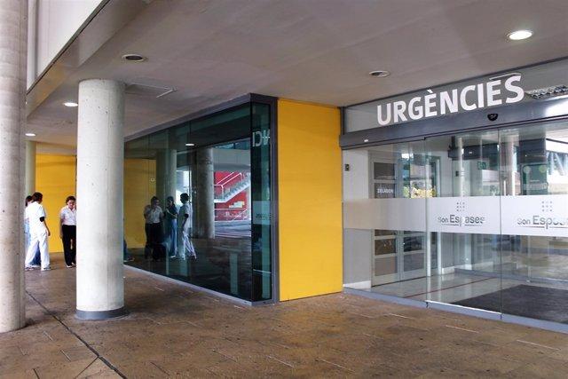 Entrada a Urgencias del Hospital Son Espases