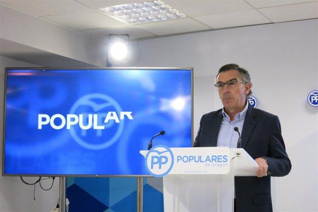 El presidente del PP Aragón, Luis Maria Beamonte