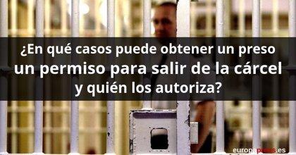¿En qué casos puede obtener un preso un permiso para salir de la cárcel y quién los autoriza?