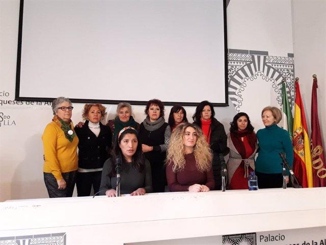 Mujeres de colectivos feministas de Sevilla