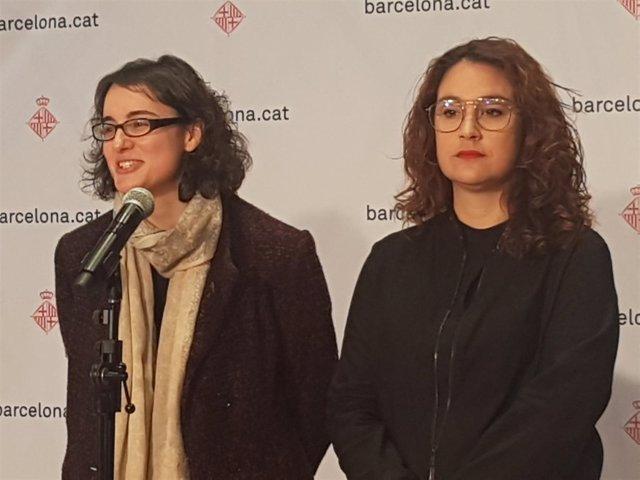 Las concejales de Barcelona Mercedes Vidal y Laura Pérez