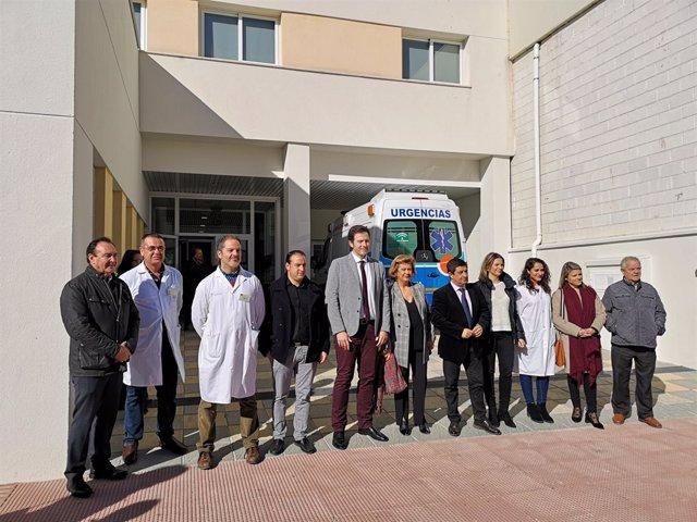 Visita al nuevo centro de salud de Campillo de Arenas