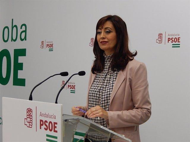 Felisa Cañete en la sede del PSOE de Córdoba