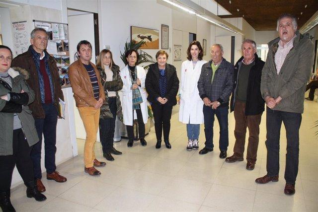 Luisa Real visita las obras de mejora del centro de salud