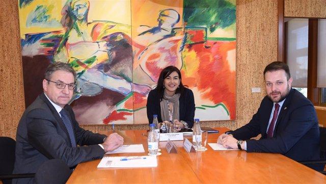 Rienda junto a Gerard Figueras y Mariano Soriano