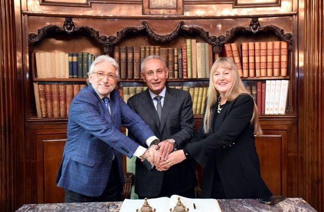 Josep Sánchez Llibre, Nasser Kamel i M.H.de Felipe