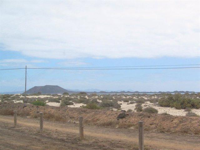 Isla de Lobos vista desde Fuerteventura