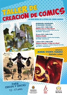Cartel del Taller de Creación de Comics. 11-1-2019