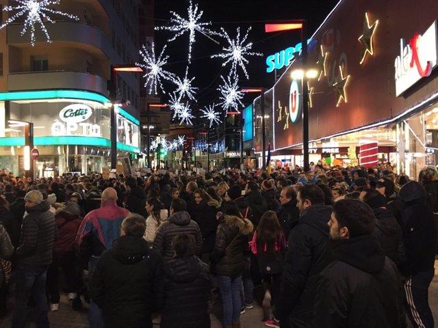 Manifestació sindical del passat 17 de desembre a Andorra