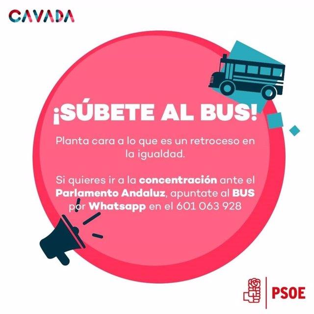 Llamamiento del PSOE de San Fernando para asistir a la manifestación del 15