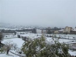 Nevada en Cazalla de la Sierra en el invierno de 2013