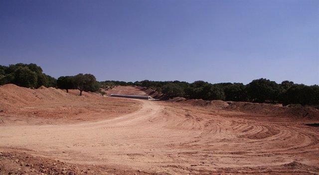 Apertura de pista para la mina de Retortillo (Salamanca)