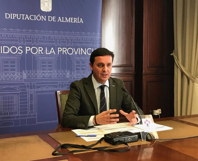 Javier Aureliano García (PP) en una imagen de archivo en la Diputación.