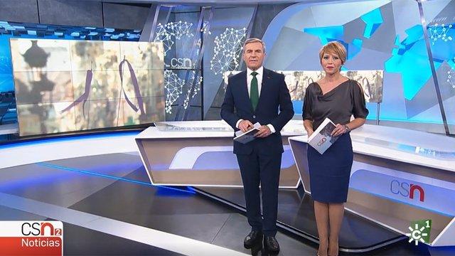 Captura de pantalla de un instante de 'Canal Sur Noticias'