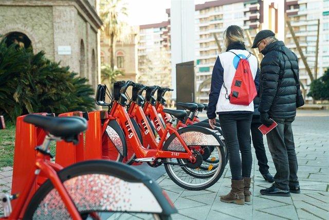 Estación del Bicing de Barcelona