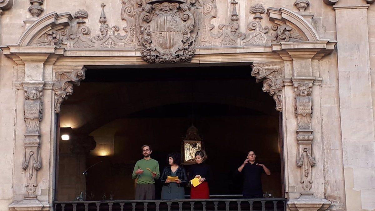 Palma abre Sant Sebastià 2019 con un pregón satírico y reivindicativo con temas como la vivienda o la violencia machista