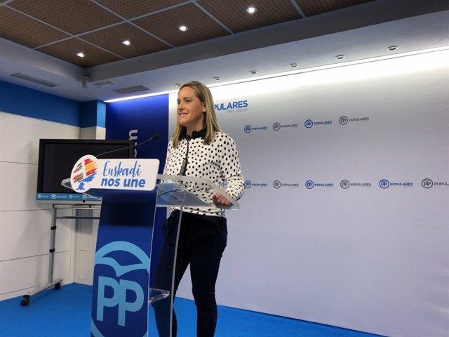 Amaia Fernández en rueda de prensa en Bilbao