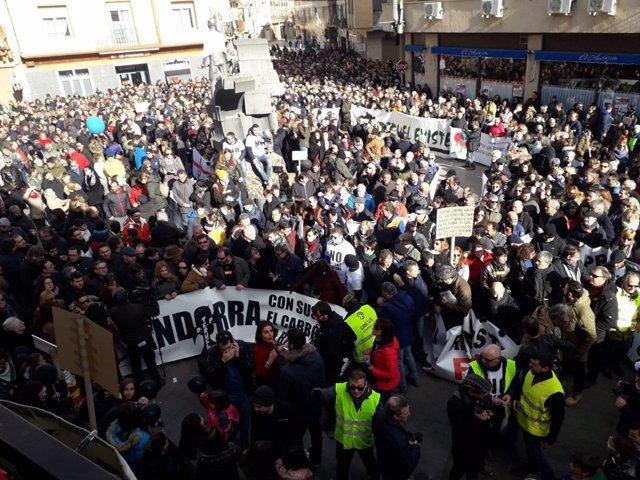 Manifestación este sábado en Andorra (Teruel).