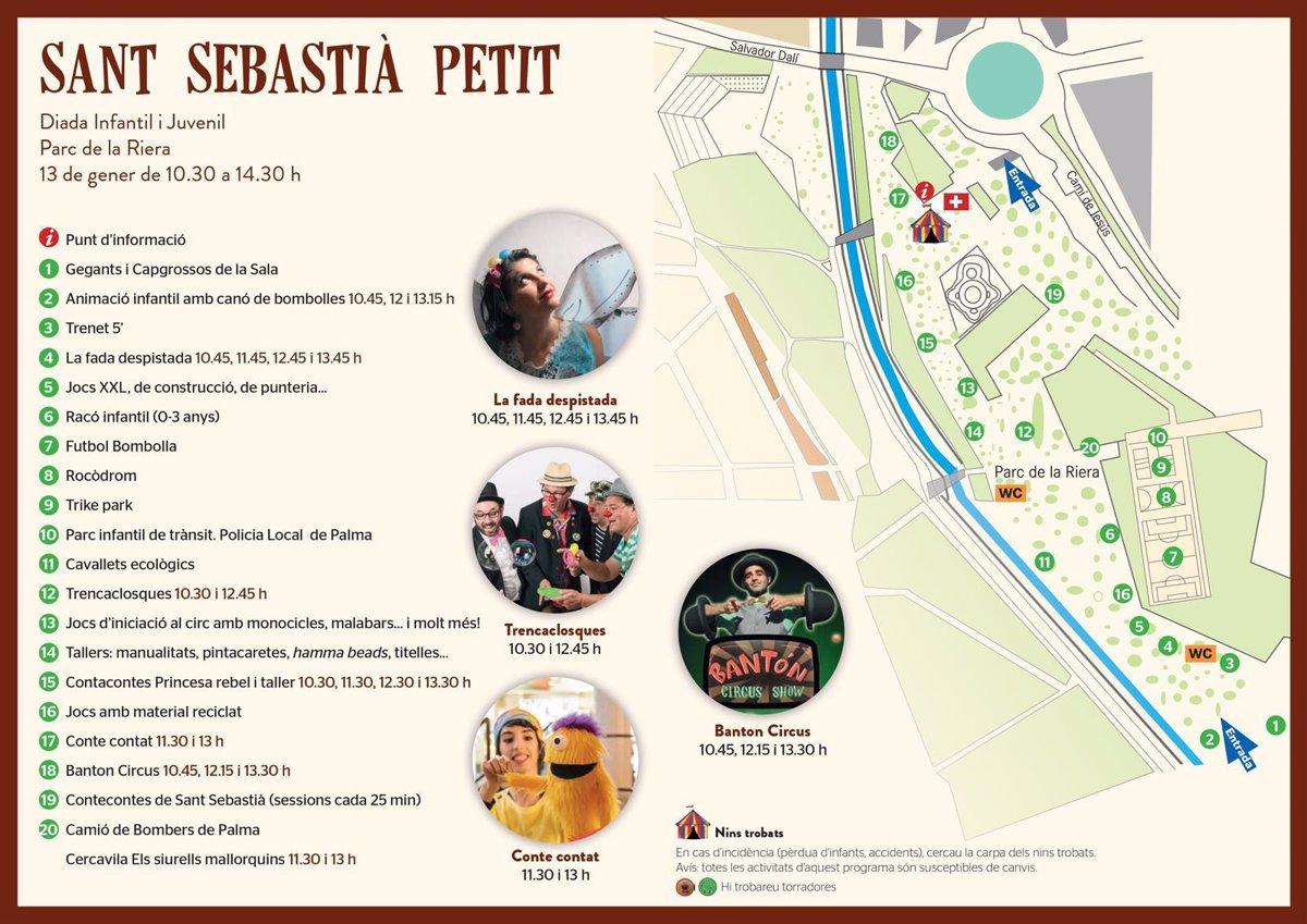 El parque de Sa Riera acoge este domingo la diada infantil 'Sant Sebastià Petit' con juegos, circo y cuentacuentos
