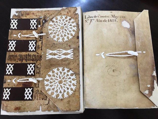 Libros restaurados de la antigua Universidad de Toledo