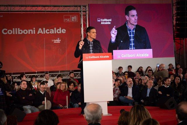Acte de presentació del candidat del PSC a l'alcaldia de Barcelona, Collboni