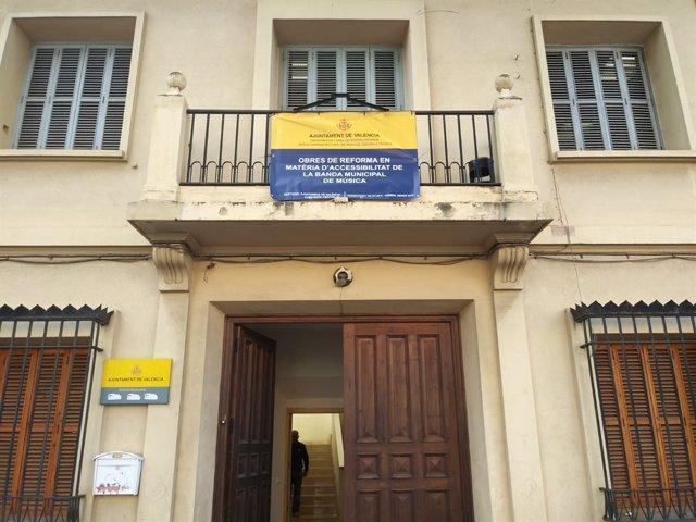 Edificio de la banda municipal de València