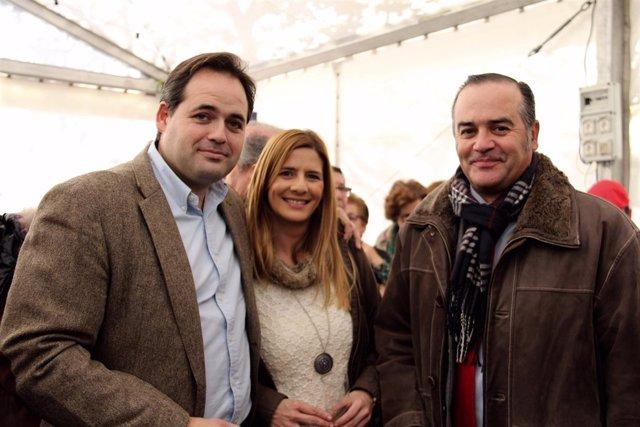 Paco Núñez, Carolina Agudo y José Julián Gregorio