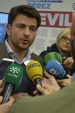 El portavoz del PP del Ayuntamiento de Sevilla, Beltrán Pérez