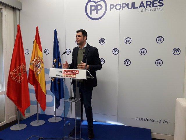 Javier García, parlamentario del PPN.
