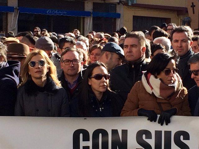Mar Vaquero este sábado en la manifestación en Andorra (Teruel).