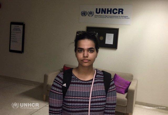 Rahaf Mohammed al Qunun, joven saudí que escapó de su familia