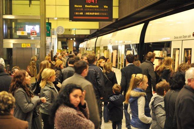 Estación transitada de Metrovalencia