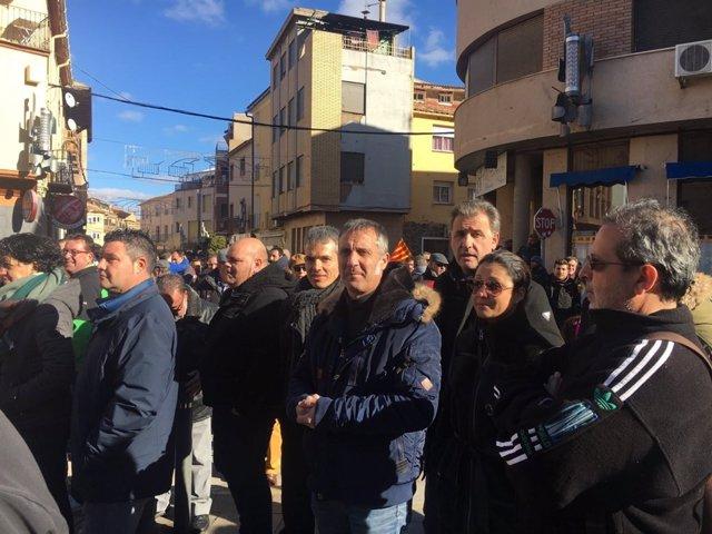 Representantes de Cs en la manifestación en Andorra.