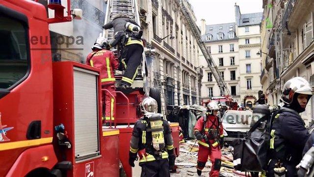 Explosión de gas en una panadería de París