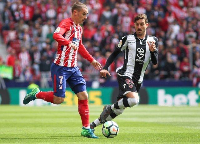 Griezmann en un Atlético - Levante