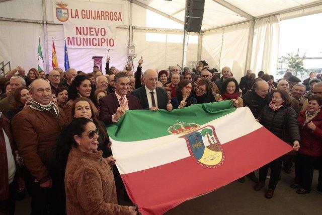 Antonio Ruiz en el acto de constitución de La Guijarrosa como nuevo municipio