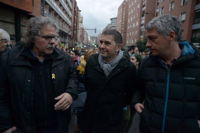 Manifestación en Bilbao de la iniciativa 'Orain presoak' por el fin de la actual