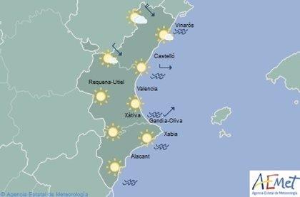Cielos despejados y temperaturas en ascenso en un domingo en que el interior norte de Castellón está en aviso por viento